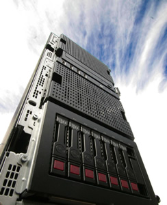 HP Tower Front with Sky